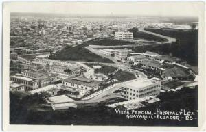 RPPC Vista Parcial-Hospital Lea Guayaquil, Ecuador, Standard size Real Photo.