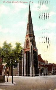 New York Syracuse St Paul's Church 1909