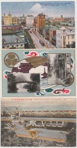 Japan lot of 3 antique postcards Osaka, Temple Nikko