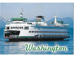 Washington State Ferry the M V Puyallup Puget Sound Washington  4 by 6 card