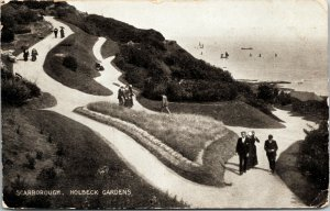 POSTCARD HOLBECK GARDENS, SCARBOROUGH, NORTH YORKSHIRE, RP. RED ONE PENNY POSTED