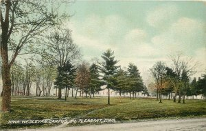 Wheelock Postcard; Iowa Wesleyan Campus, Mt. Pleasant IA Henry County Unposted