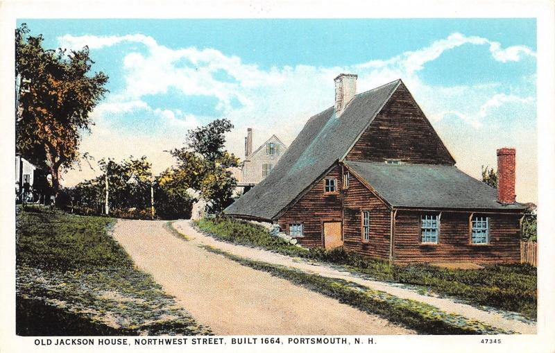 Portsmouth New Hampshire~Old Jackson House on Northwest Street~1920s Postcard