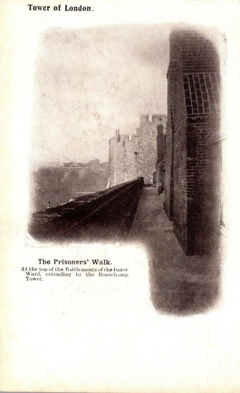 England London Tower Of London The Prisoners' Walk