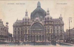 ANVERS, Belgium, 1900-1910's; Gare Centrale, Place De La Gare
