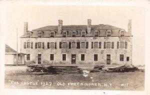 G22/ Old Fort Niagara New York RPPC Postcard c1920s The Castle 1