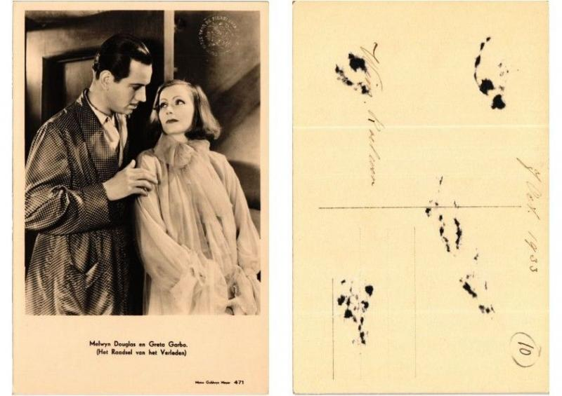 CPA Greta Garbo and Melvyn Douglas FILM STAR (554588)