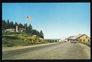 Hogback Mountain, Vermont/VT Postcard, Buildings & Old Car, 1950!