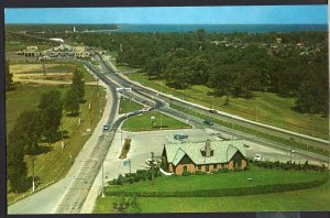 Ontario ~ SARNIA Aerial View of Your Entrance to Canada Info Centre 1950s-1970s