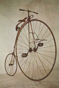 Ordinary 1872 Penny Farthing Bicycle 1969 Museum Postcard
