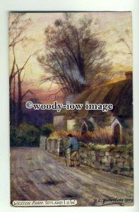 h1169 - Weston Farm , Totland , Isle of Wight - art postcard by Richardson