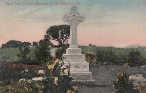 Irish Fusiliers Monument at Nicholsons Nek Antique Military Postcard