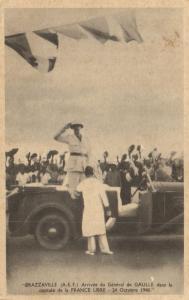 CPA Francais Congo Afrique - Brazzeville - Arrivée du Général de Gaulle (86607)