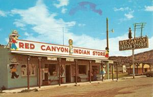 Panguitch Utah Red Canyon Indian Store Street View Vintage Postcard K41781