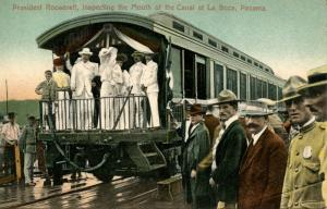 Panama - La Boca. President Roosevelt Inspecting the Mouth of the Canal