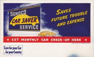 Ink Blotter 1930s ; SUNCO Car Saver Service