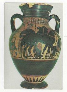 Greece Rhodes Museum Rhodos Figure Black Attic Amphora Vtg Postcard 4X6