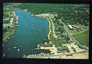 Falmouth, Massachusetts/MA/Mass Postcard, Air View Of Falmouth Harbor,  Cape Cod
