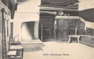 Interior of Skansen Museum un Sweden Antique Postcard L854