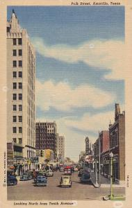 AMARILLO , Texas , 30-40s ; Polk Street , Looking North from Tenth Avenue