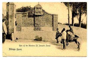 Spain - Malaga. Gate of the Wonders (St. Joseph's Farm)   (torn corner)