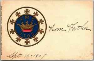 Vintage Fraternal Embossed Postcard VMC 1105 Royal Arcanum Boston MA Dated 1907