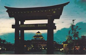 FREEPORT, Grand Bahama, International Bazaar, Entrance at night, PU-1970