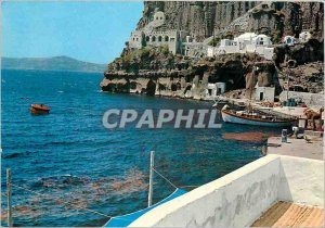 Postcard Modern Thira Cliff