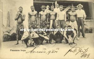 liberia, Group of Native Piassava Boys, Broom Makers (1904)
