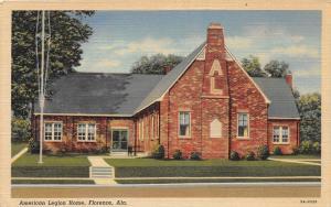 F15/ Florence Alabama Postcard Linen American Legion Home