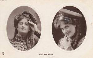 RP: Actress portrait Miss Jean Aylwin; 00-10s; Dual Oval Portraits