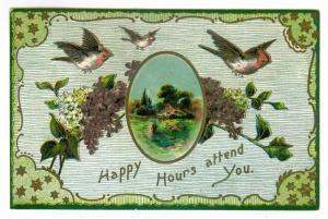 Ludlowville, New York to East Smithfield, Pennsylvania 1910 used Greeting PC