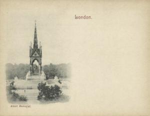 london, Albert Memorial (1899) Court Card