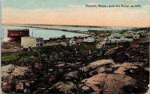 Duluth MN and the Point in 1871 Unused Postcard G28
