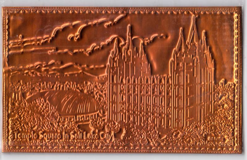 Copper Card - Temple Square, Salt Lake City UT