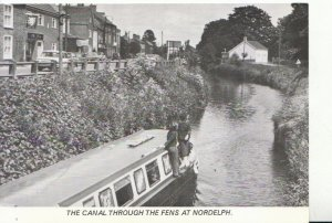 Norfolk Postcard - The Canal Through The Fens at Nordelph - Ref 6972A