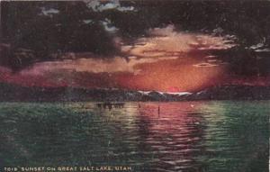 Utah Sunset On The Great Salt Lake