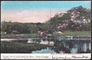 BEACHWOOD MAINE - Little River view 1908 / GOOSE ROCKS BEACH