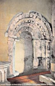KILLALOE CLARE IRELAND~ARCHED DOORWAY~ST FLANNEN'S CATHEDRAL-LAWRENCE POSTCARD