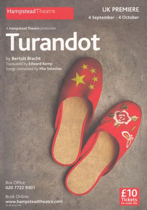 Daniel York The Beach Rogue Trader Turandot Hampstead Hand Signed Theatre Flyer