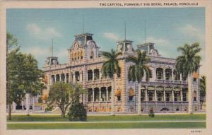 Hawaii Honolulu The Capitol Formerly The Royal Palace 1945 Curteich