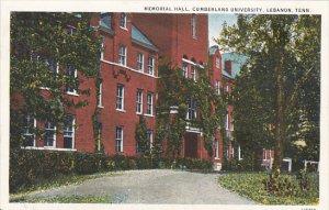Tennessee Lebanon Memorial Hall Cumberland University Curteich