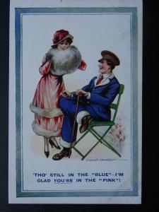 WW1 Convalescent Nursing THO STILL IN THE BLUE Fred Spurgin 1916 Postcard