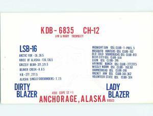 Vintage Qsl Ham Radio Card Anchorage Alaska AK t1661