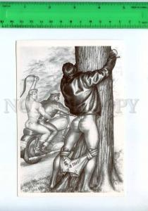 219202 Tom of FINLAND gay theme drawing motorcycle postcard