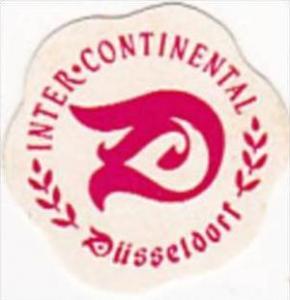 GERMANY DUESSELDORF INTER CONTINENTAL HOTEL VINTAGE LUGGAGE LABEL