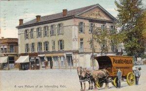 Indiana Indianapolis Circle Hall With Polar Ice & Fuel Company Wagon1909 sk221