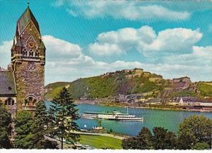 Germany Koblenz Blick Auf Festung Ehrenbreitstein