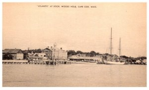 Massachusetts Woods Hole , Ship Atlantis at dock