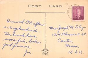 GLIMPSE OF S.W. MIRAMICHI RIVER NEW BRUNSWICK CANADA- PHOTO POSTCARD 1950s PMK